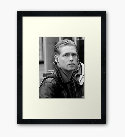 At The Tram Stop Framed Print