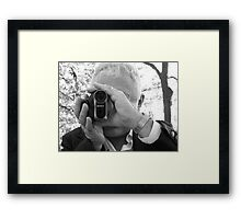 Wedding videographer Framed Print