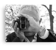 Wedding videographer Canvas Print
