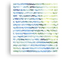 Digits of Pi (Green & Blue) Canvas Print