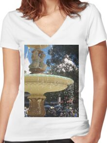 drips and drops Women's Fitted V-Neck T-Shirt