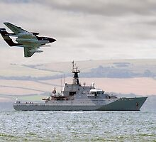 Royal Navy - HMS Mersey and Sea Vixen by © Steve H Clark Photography