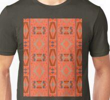 rectangles and diamonds on orange Unisex T-Shirt