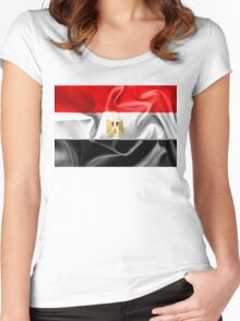Egypt Flag Women's Fitted Scoop T-Shirt