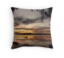Fishing Gum Sunset Throw Pillow