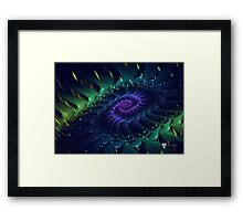 Raw Fractal Bloom Framed Print