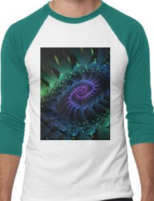 Raw Fractal Bloom Men's Baseball ¾ T-Shirt