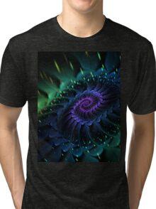 Raw Fractal Bloom Tri-blend T-Shirt