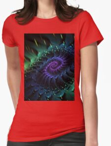 Raw Fractal Bloom Womens Fitted T-Shirt
