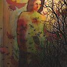 Goddess at Dusk  by bev langby