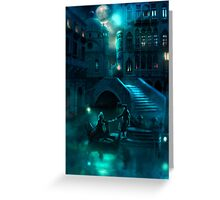 Venice Moon Greeting Card