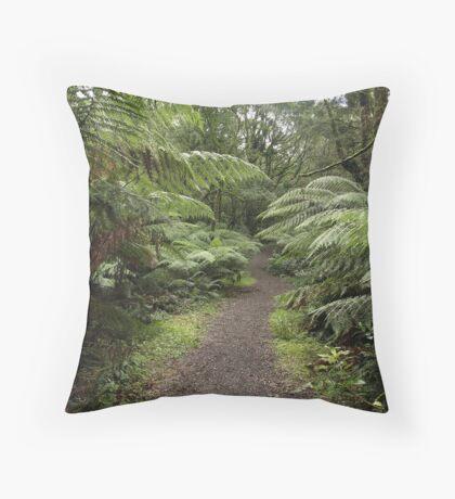 Walking track Throw Pillow