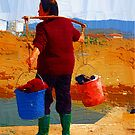 laundry woman by marcwellman2000