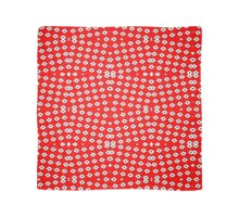 Red Background, White Diamond and Black Spots 2 Scarf