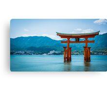 Miyajima Floating Torii Gate Canvas Print
