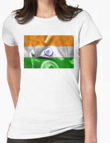India Flag Womens Fitted T-Shirt