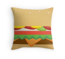 Fast Food Cheese Burger Throw Pillow