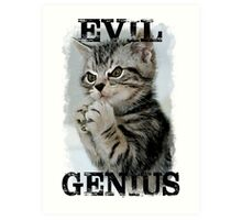 Evil Genius - The Cat Art Print