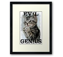Evil Genius - The Cat Framed Print