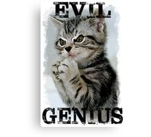 Evil Genius - The Cat Canvas Print
