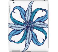Blue Feather Flower iPad Case/Skin