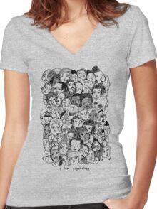I Love Psyhology. Women's Fitted V-Neck T-Shirt