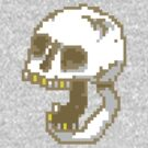 8-Bit Yelling Skull. by Philip Elliott