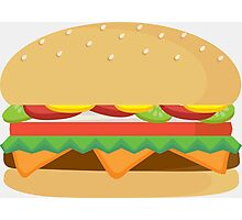 Fast Food Cheese Burger Photographic Print