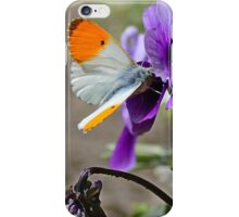 white and orange butterfly iPhone Case/Skin