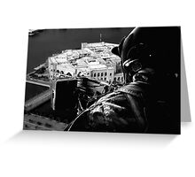 Fighter over Iraq Greeting Card
