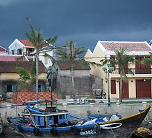 Bracing for the storm - Hoi An by Chris Liddell