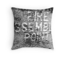 Fire Assembly Point Throw Pillow