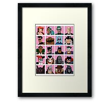 Heroes & Villains  Batman: the Animated Series Framed Print