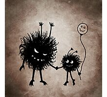 Evil Cartoon Bug Mother And Child Photographic Print