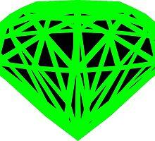 Wireframe Emerald by CrimsonYeti