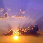 Sunset On Pensacola Beach by Wanda Raines