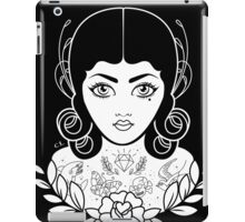 Flapper in black iPad Case/Skin