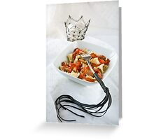 Pasta with a sting Greeting Card