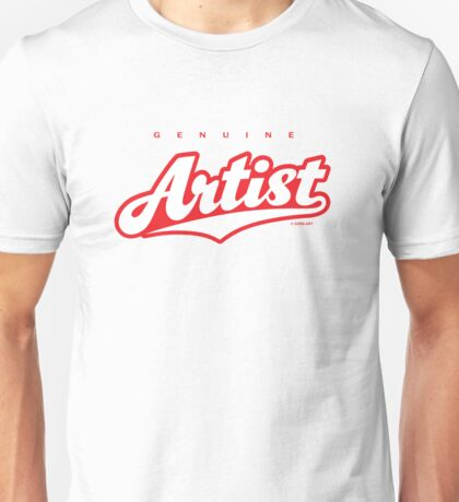 GenuineTee - Artist (white/pink) T-Shirt