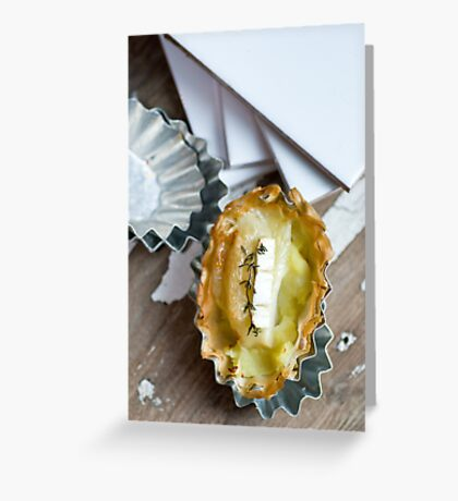Leek and potato Greeting Card