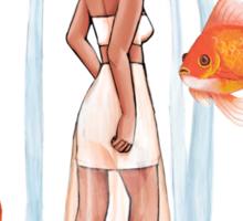 Goldfish Girl Sticker