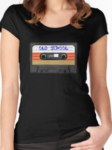 Old school music Women's Fitted Scoop T-Shirt