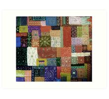 Painted Quilt  Art Print