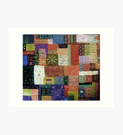 Painted Quilt  Art Print