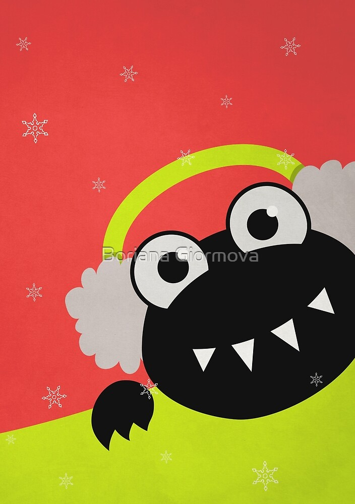 Cute Winter Bug With Earmuffs by Boriana Giormova