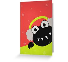 Cute Winter Bug With Earmuffs Greeting Card