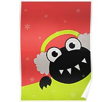 Cute Winter Bug With Earmuffs Poster