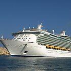 Cruise liner entering Grand Harbour, Malta by DeborahDinah