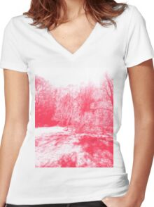 In Lieu of Cherry Blossoms... Women's Fitted V-Neck T-Shirt