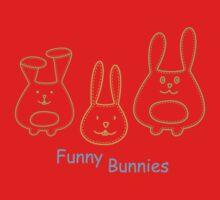 Funny Bunnies One Piece - Short Sleeve